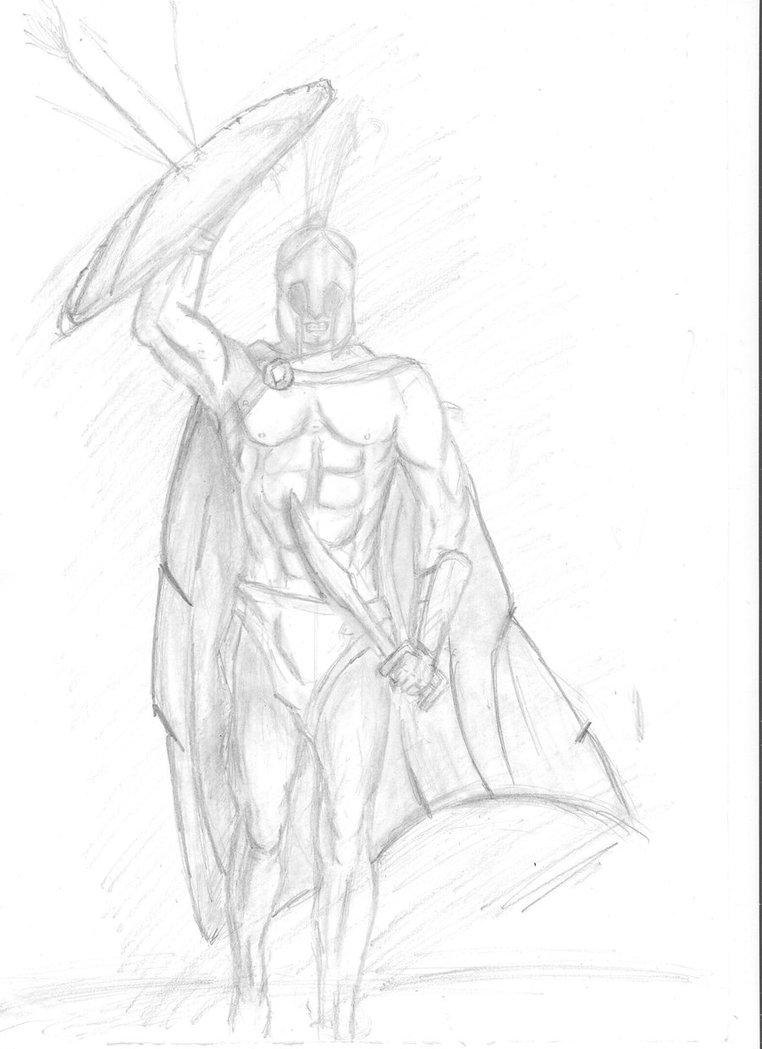 762x1049 Spartan Warrior By Whathehell13