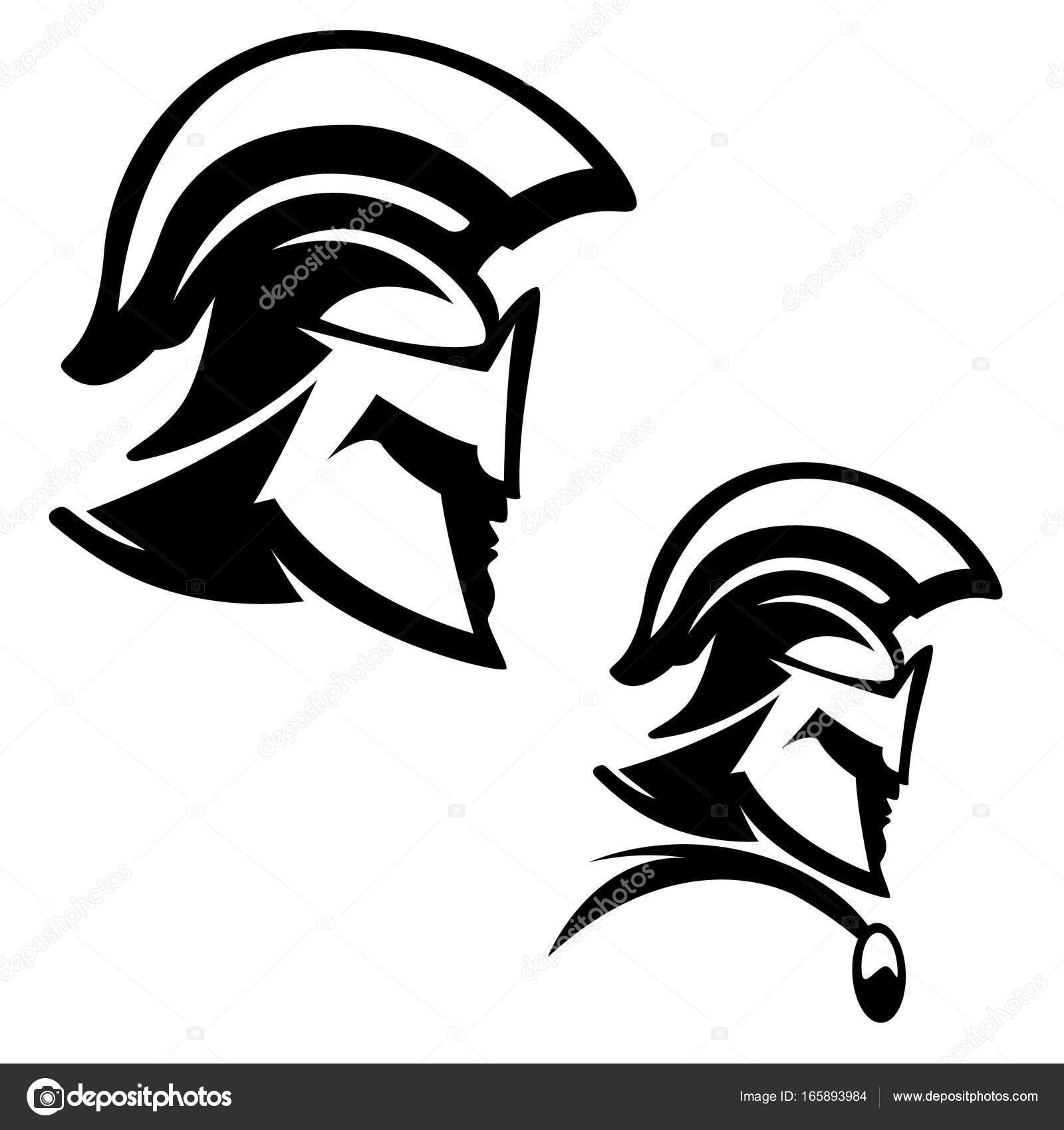 1600x1700 Spartan Warrior Illustration Isolated On White Background. Stock