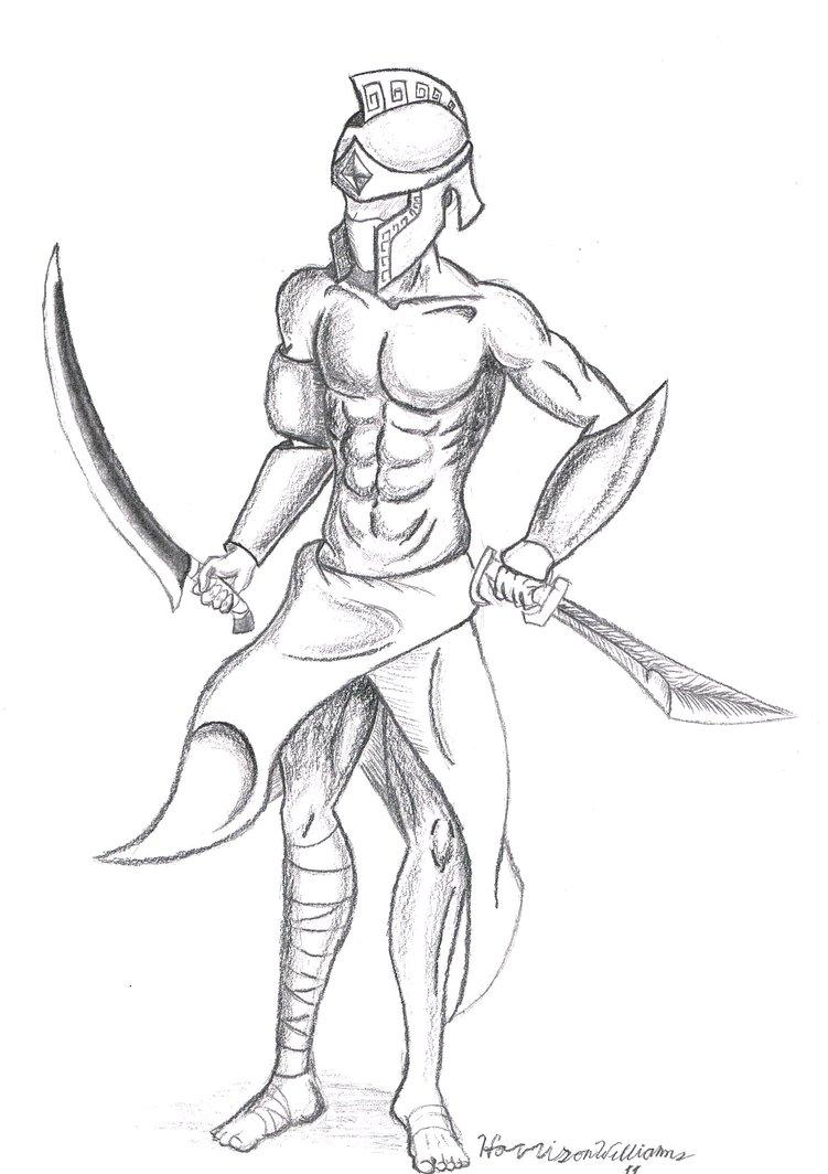 751x1064 Warrior Concept 3 By Combalt2
