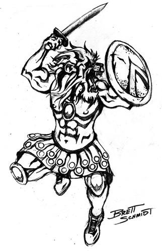 322x500 Demon Pack Presents Lion Spartan Warrior