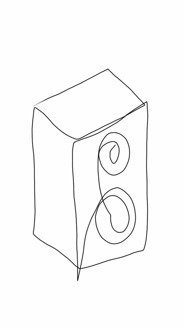 600x1067 Challenge Blind Contour Drawing 1 (Little Speaker) By