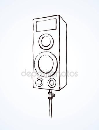 342x449 Doodle Speaker Illustration On White Background Stock Vector