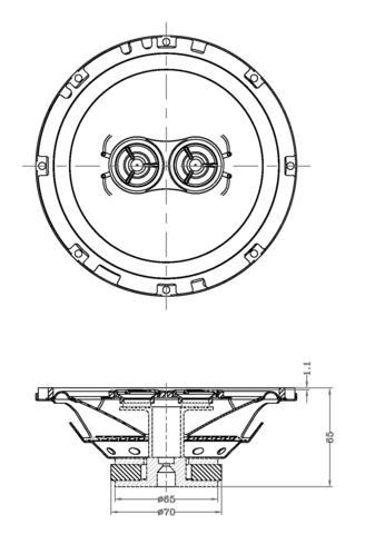 337x480 6.5 Inch Standard Series Dash Speaker Retrosound