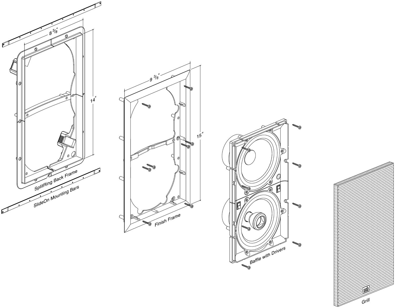 1500x1170 M6x6.1 In Wall Speaker