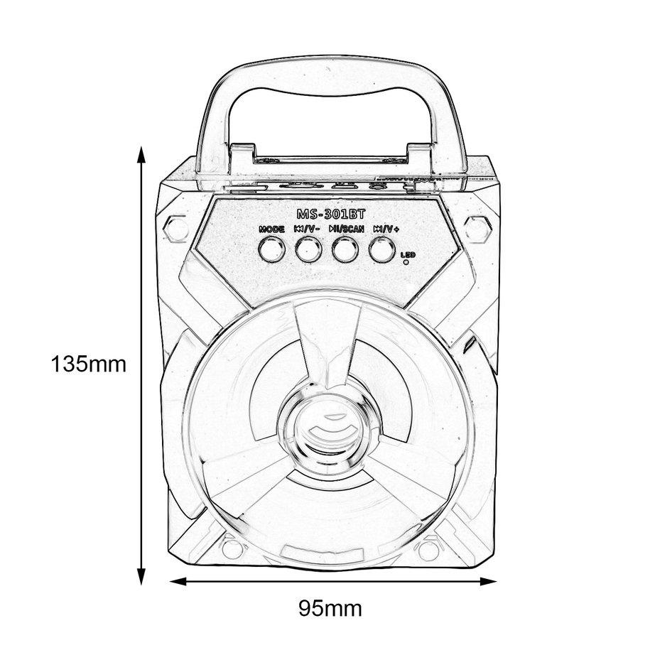 915x915 Ms 301bt Outdoor Portable Bluetooth Speaker Multimedia Mobile