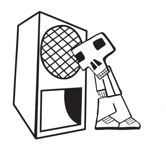 657x622 Put Your Head In The Speaker' Print Ugly Funk