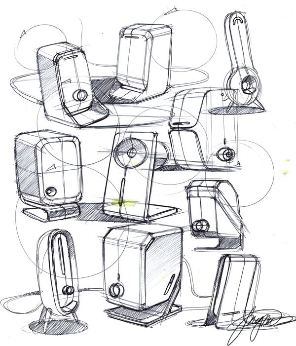 600x701 Sketch A Day 157 Speakers Sketch A Day Sketch A Day Sketches