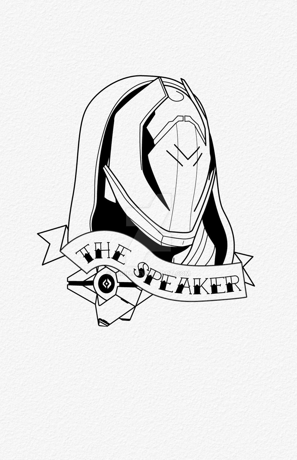 1024x1583 The Speaker Tattoo By Flich