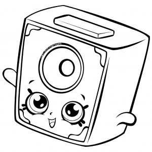 300x300 Little Squeeky Speaker Coloring Page Shopkins Coloring Pages