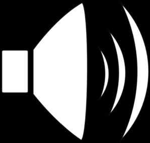 298x285 Speaker Volume 3 Outline Clip Art