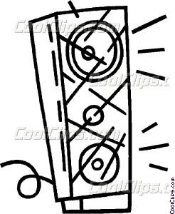 246x300 Stereo Speaker Vector Clip Art