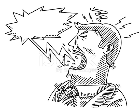 550x440 Shouting Businessman Speech Bubble Drawing Stock Vector