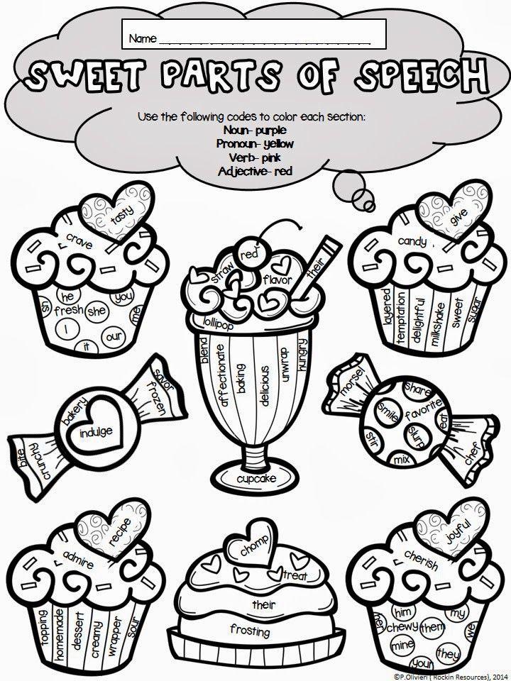 720x960 Valentine's Day Sweet Parts Of Speech Language Arts, Language