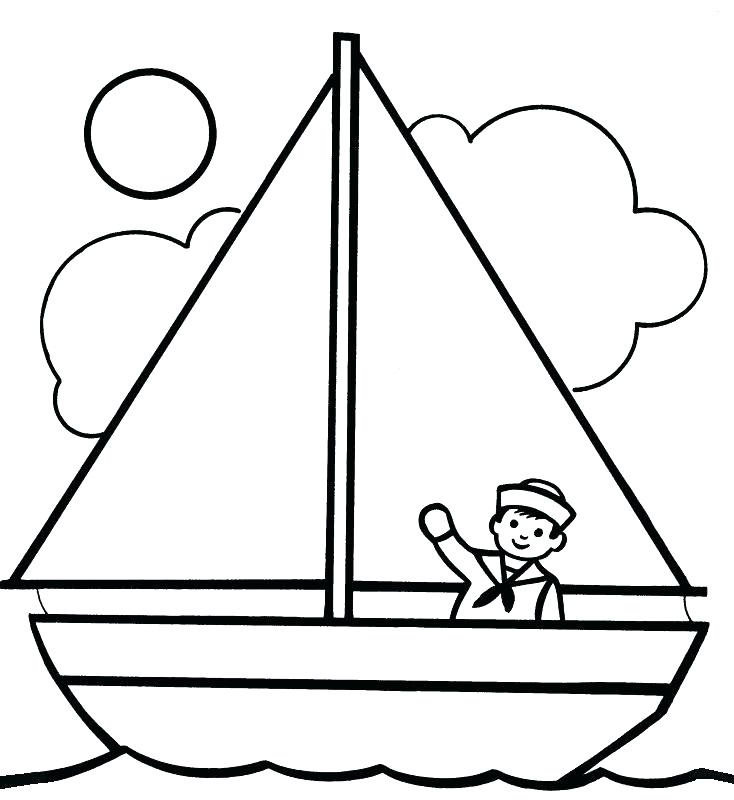 734x800 Canal Boat Coloring Page Speed Boat Coloring Sheetsn Infant In