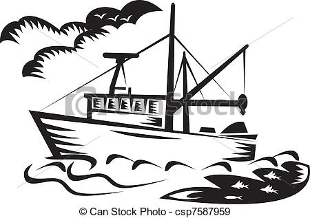 450x317 Commercial Fishing Boat Coloring Page Ski Boat Coloring Page