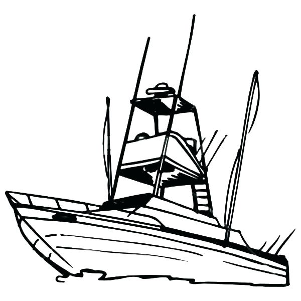 600x600 Fishing Boat Coloring Pages Boats Coloring Pages Boat Coloring