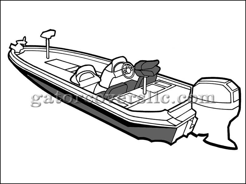 800x600 Boat Cover For 16ft 6in Angled Transom Bass Boat
