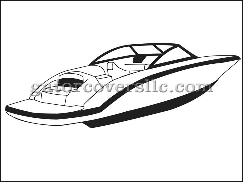800x600 Boat Cover For 30ft 6in V Hull Runabout Boat With Walk Thru