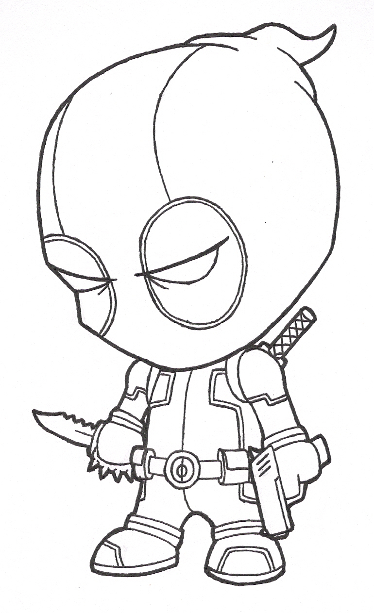 770x1263 Deadpool Cartoon Drawing Speed Drawing Of Chibi Deadpool