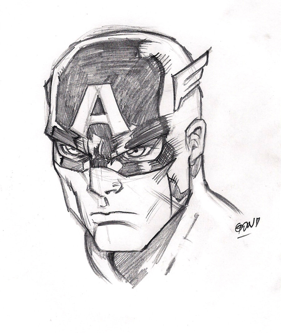 900x1067 Captain America Drawings Speed Drawing Captain America