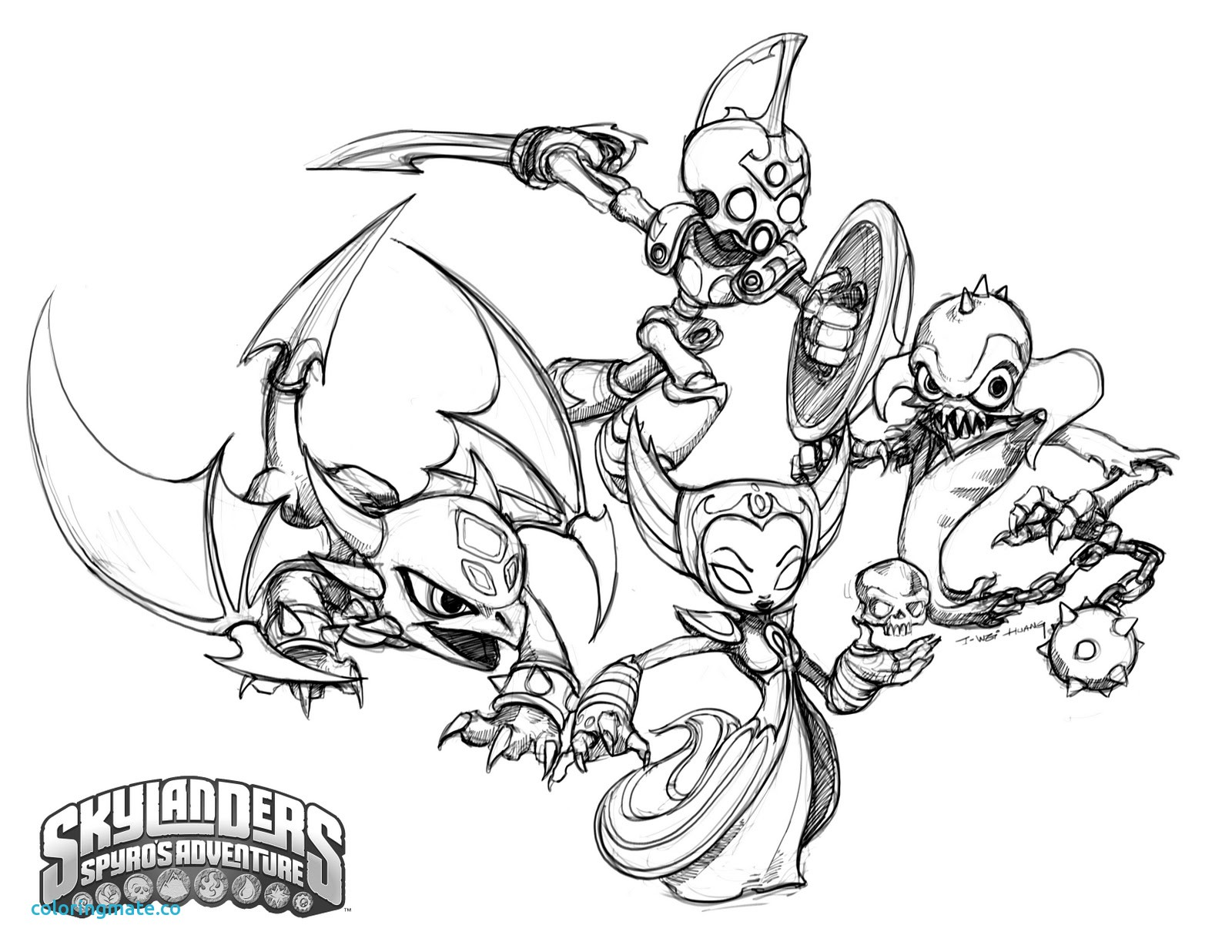 1600x1236 Skylander Coloring Page Unique Crabfu Blog Skylanders Speed