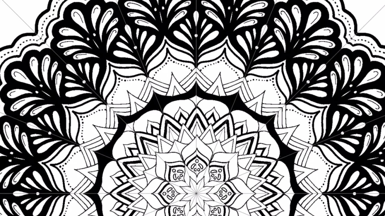 1280x720 Speed Drawing Of Mandala In Amaziograph App On The Ipad