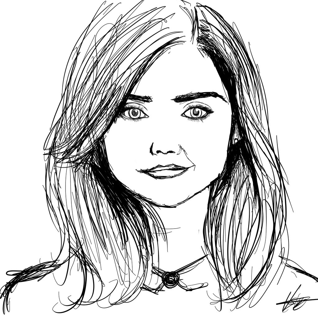 1024x1024 Clara Oswald Speed Drawing By Kurostars