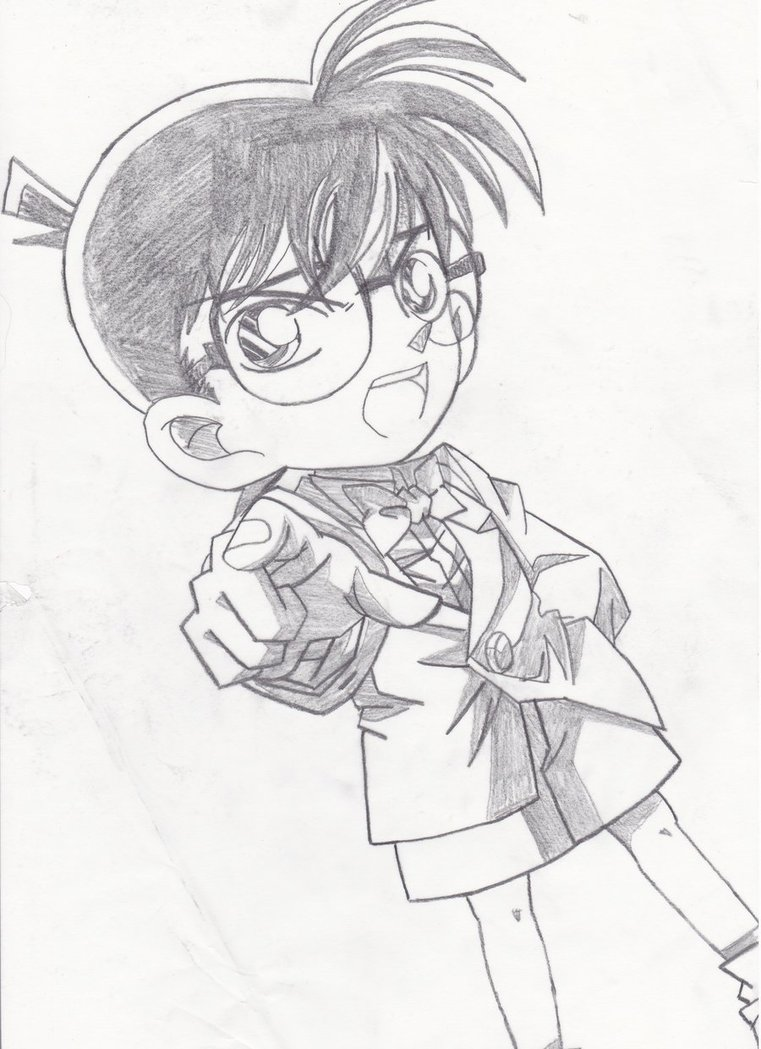 761x1049 Conan Edogawa (Speed Drawing) By Schneefuechsin