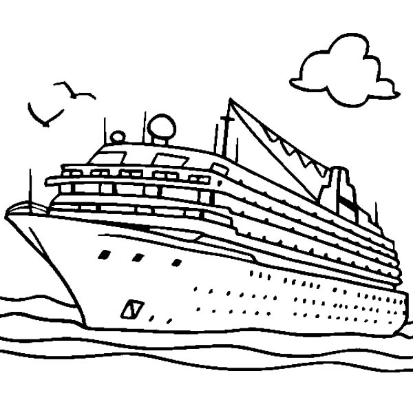 600x600 Big Boat Coloring Pages Cruiser Boat Coloring Pages