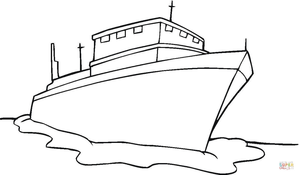 1200x704 Ship Coloring Page Free Printable Pages