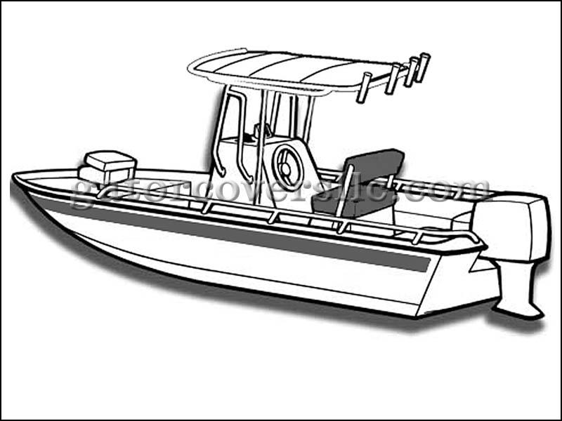 800x600 Boat Cover For24ft 6in V Hull Bay Boat W T Top