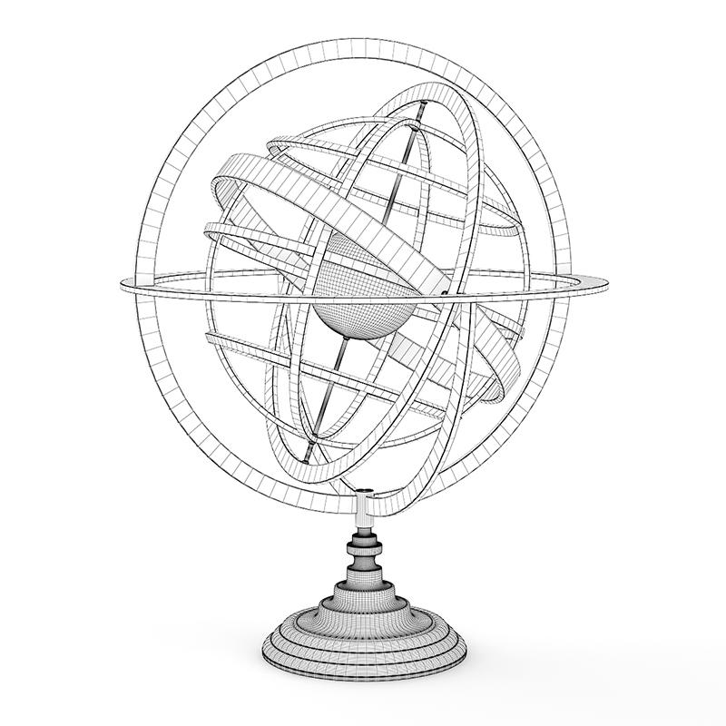800x800 Armillary Sphere