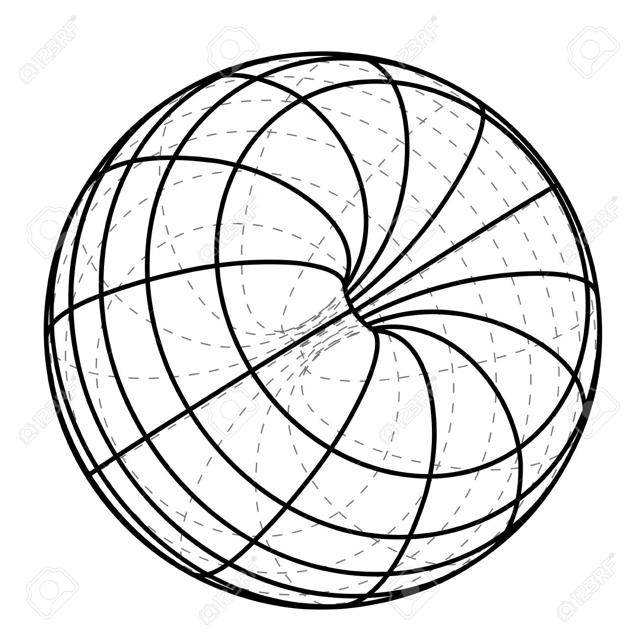 1300x1300 Black Line Scheme Sphere Sketch Illustration Royalty Free Cliparts