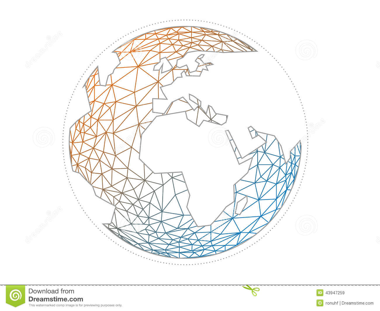 1300x1065 Colorful Geometric Abstract Earth Globe Sphere Vector Graphic