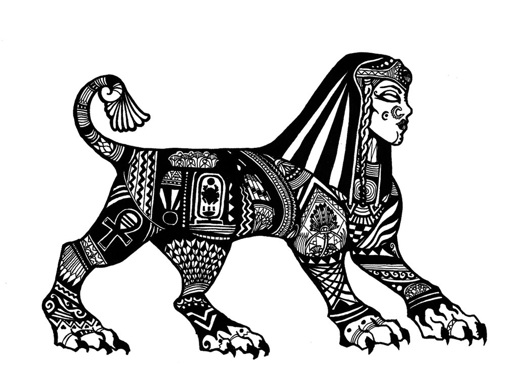 Line Drawing Jaguar : Sphinx drawing at getdrawings free for personal use