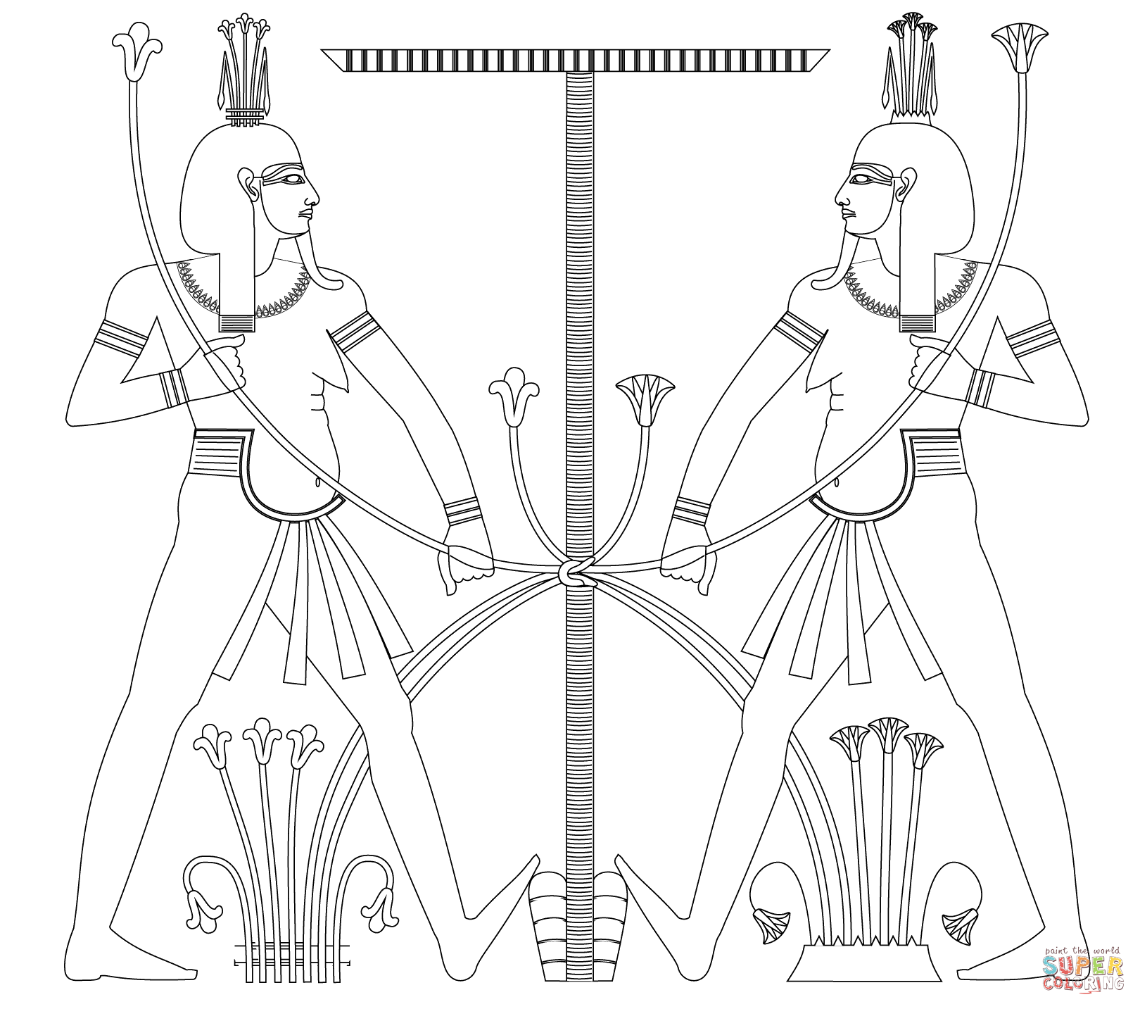 egypt map coloring page - sphinx egypt drawing at free for