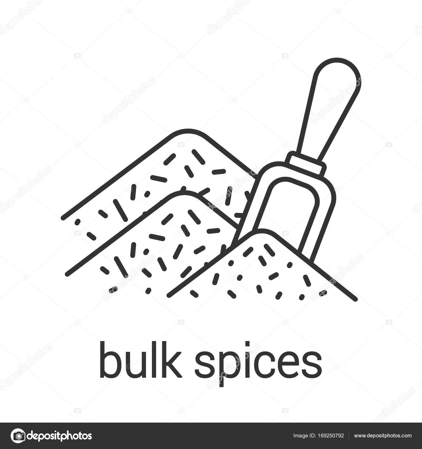 1600x1700 Bulk Spices Linear Icon Stock Vector Bsd
