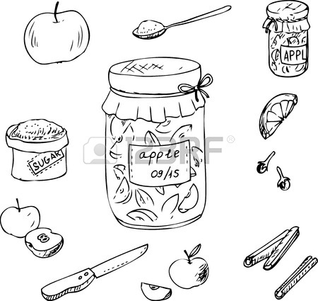450x425 Doodle Set Of Linear Drawing Spices,hand Drawn Design Elements