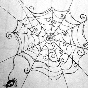 Spider Drawing Easy
