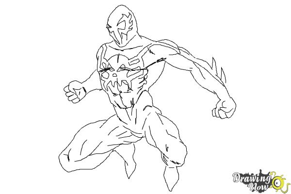 600x400 How To Draw Spiderman 2099