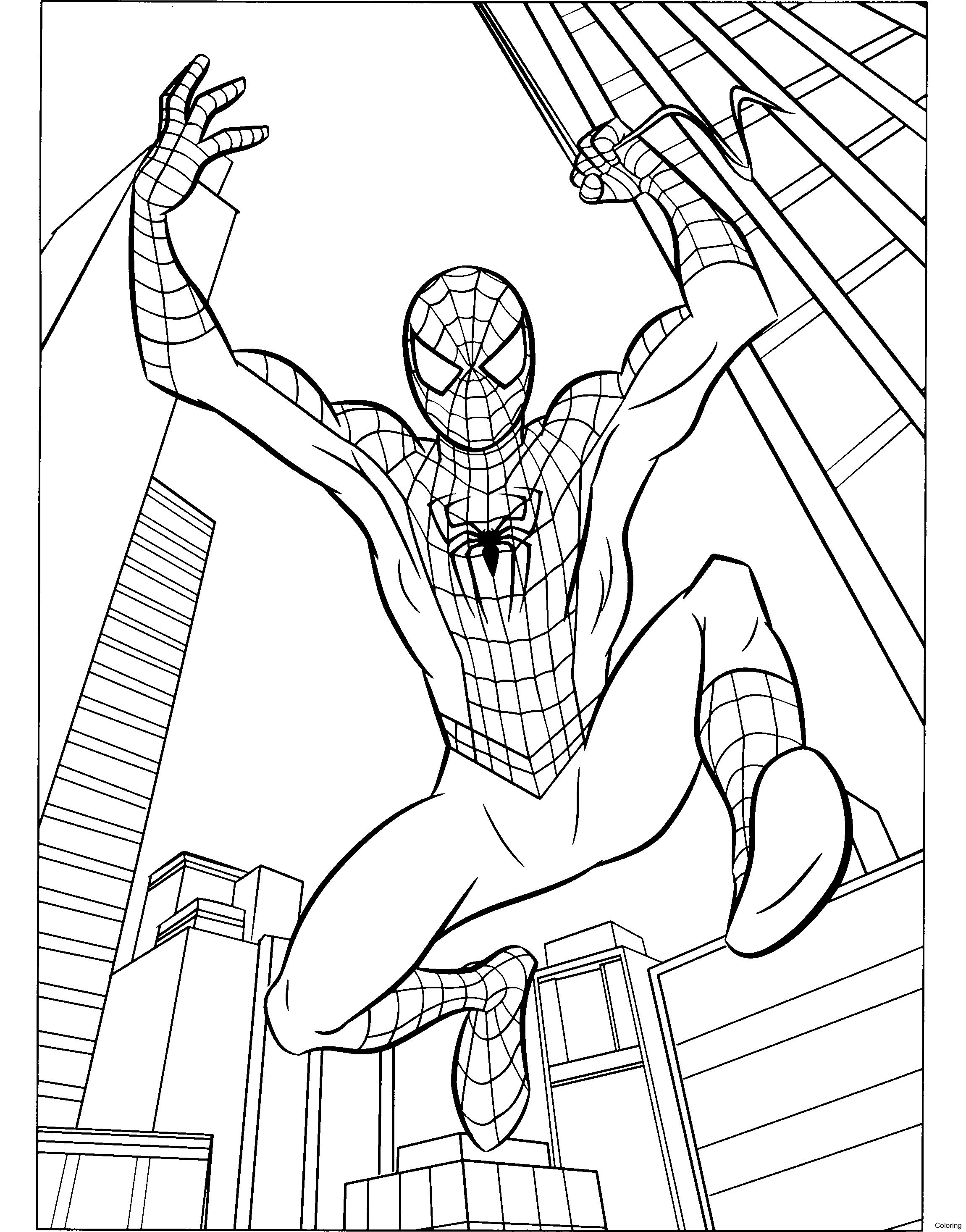 2300x2933 Spiderman Without Paths Spider Man Coloring Old School 13f Amazing