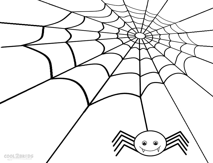 850x652 Printable Spider Web Coloring Pages For Kids Cool2bkids