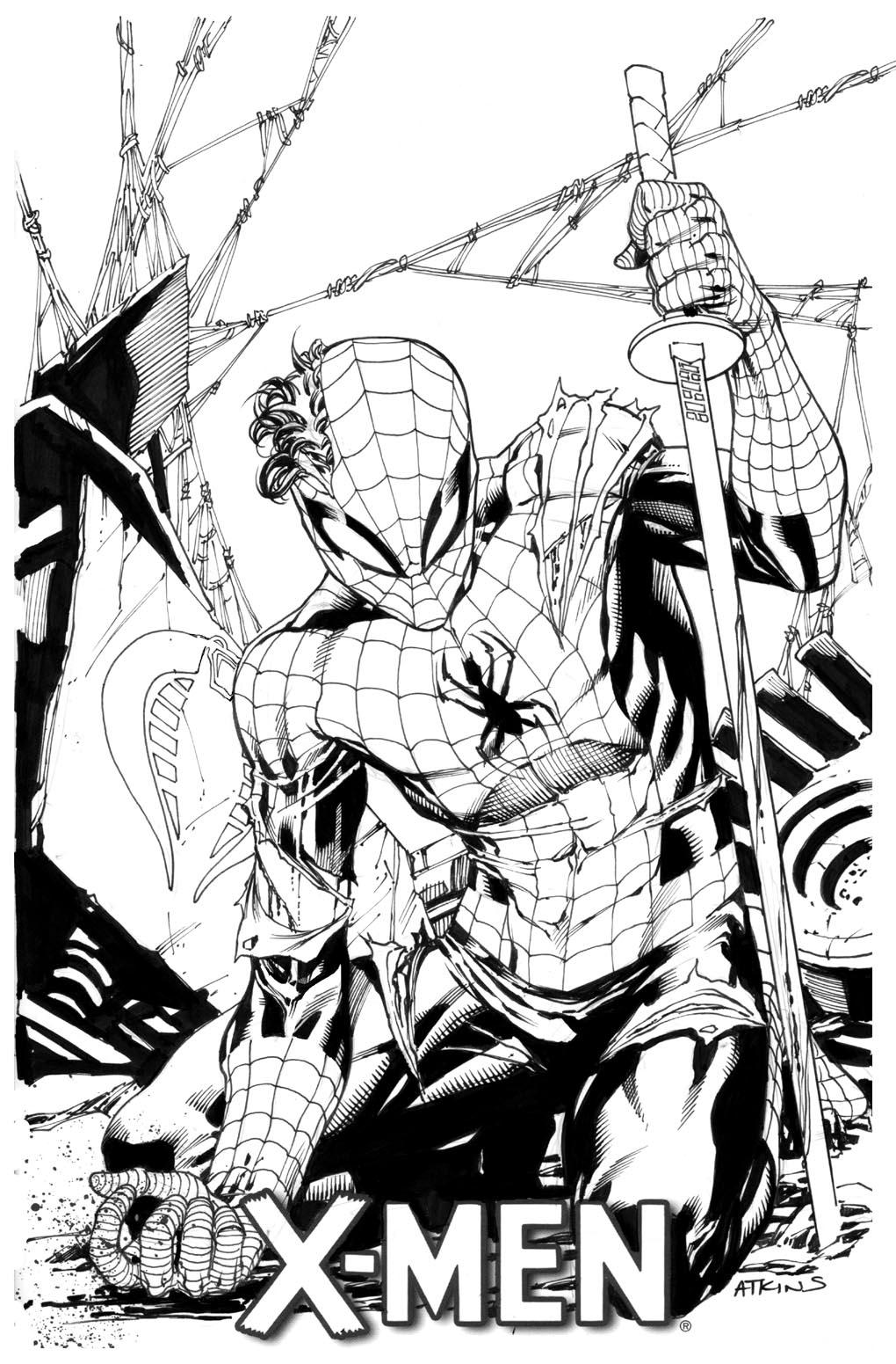 1020x1551 Spider Man 8th Grade Robert Atkins Art