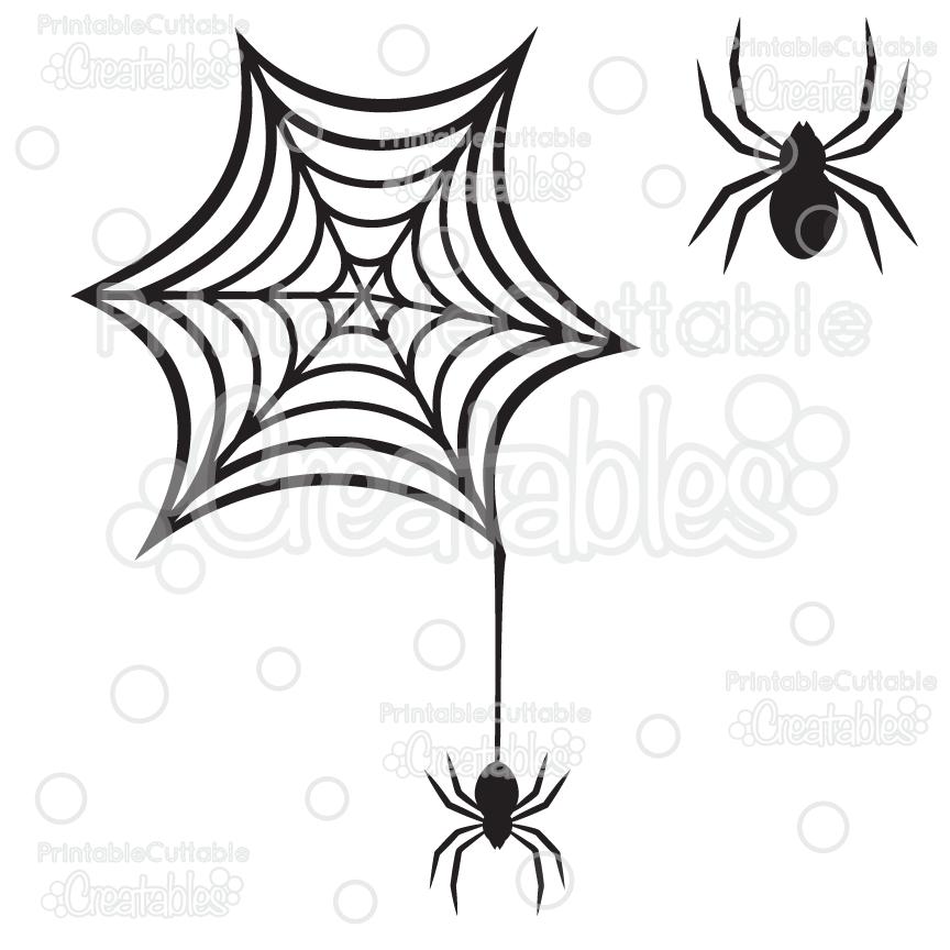 864x864 Creepy Spiderweb Spider Free Svg Cutting File Amp Clipart