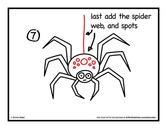 Spider Drawing For Kids
