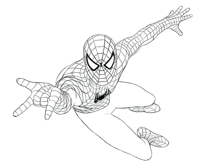 688x523 Coloring Pages Spider Man Printable Coloring Pages For Kids Visit