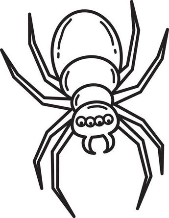 345x445 Free Printable Halloween Spider Coloring Page For Kids Simple