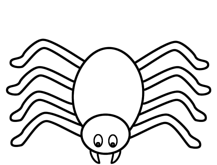738x560 Halloween Spider Coloring Page