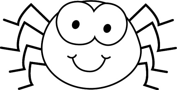 573x293 Black White Cartoon Spider Coloring Page Kids Coloring Pages