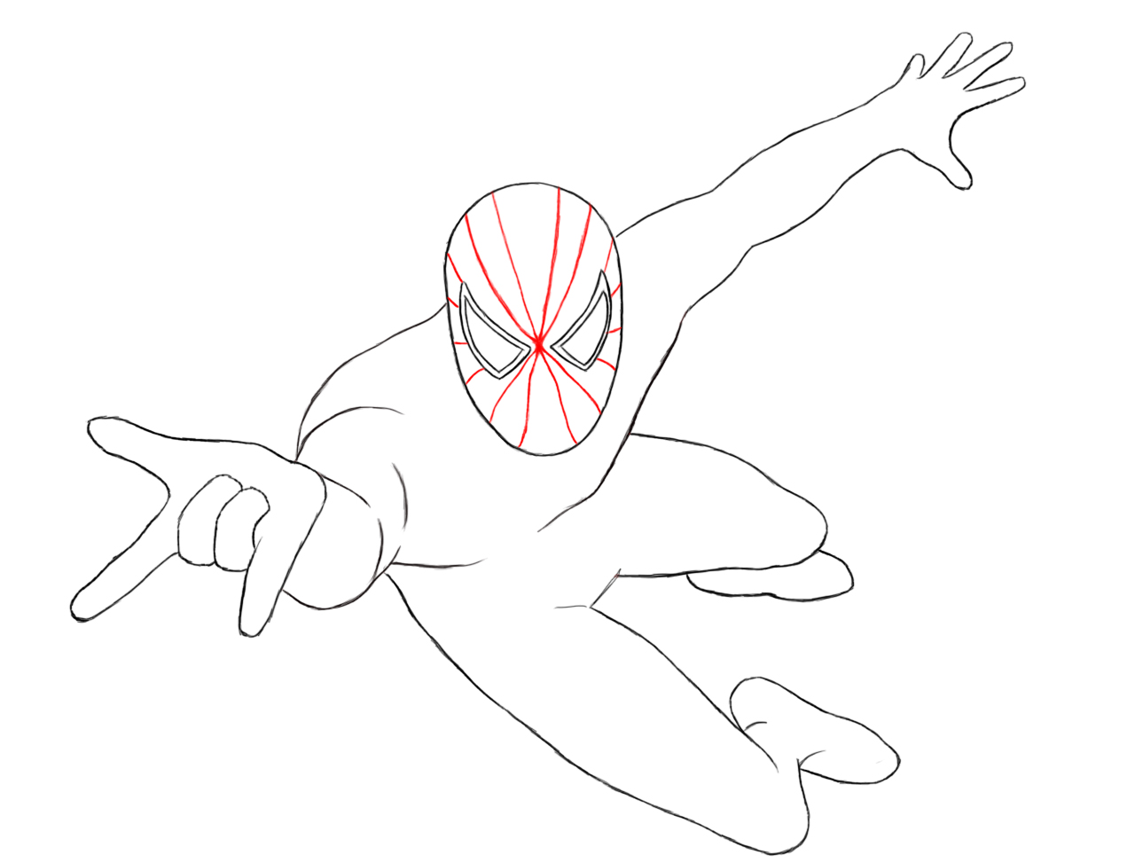 1280x973 How To Draw Spiderman